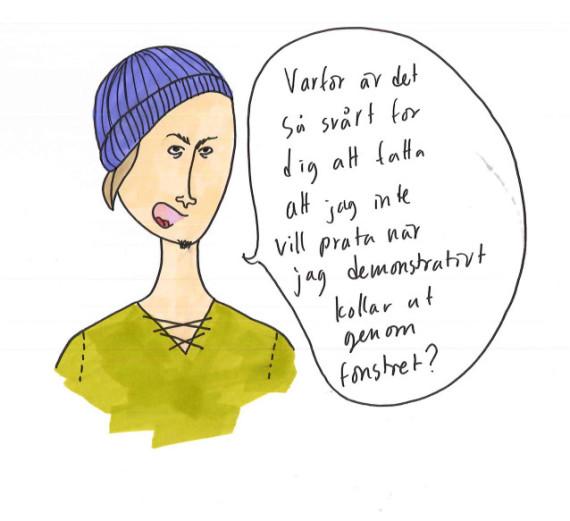 flickvän vill inte prata Lidköping
